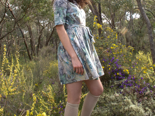 Nadinoo Fleur's Penna Dress amongst the wildflowers, Taradale, Victoria, Australia